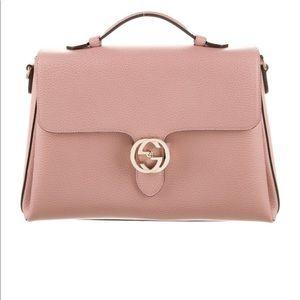 Gucci large interlocking pink bag